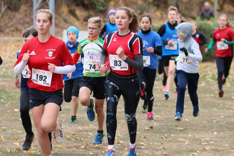 Luisa mit der Startnummer 83 beim Cross in Bad Kreuznach