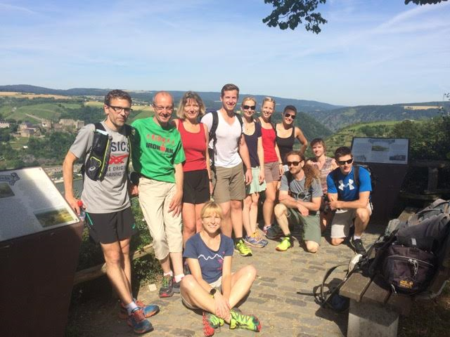 Jens' Trainingsgruppe am Rheinsteig