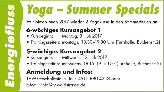 Yoga Summer Special